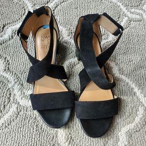 Naturalizer Adele Black Block Heels 7.5
